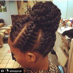 Beautiful braided bun!