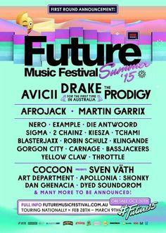 Future Music Festival Melbourne 2015 #Melbourne #music #festival #future #summer #avicii #drake #prodigy #sigma #afrojack #amityapartments #southyarra