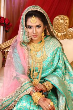 A Bangladeshi beautiful bride. Facebook collection.  Our friend's daughter-in-law.