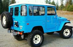Fj40 Blue Factory Restoration - Toyota Land Cruiser Hard Top