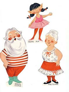 Santa, Mrs. Claus and the Elves