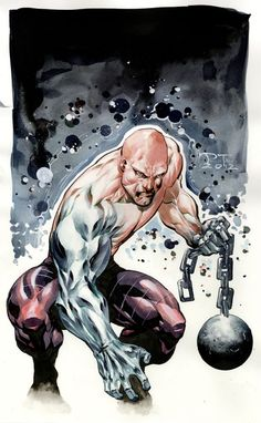 """The Absorbing Man - Carl """"Crusher"""" Creel - invisioned from Brian Patrick Wade - Marvel Lego Marvel, Marvel Dc, Marvel Comic Universe, Marvel Comics Art, Marvel Comic Books, Comics Universe, Comic Books Art, Book Art, Comic Book Villains"""