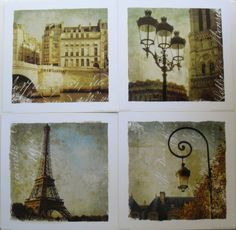 Set of 4 France Art Prints, Golden Age of Paris I, II, III & IV by Unknown | eBay $29.99