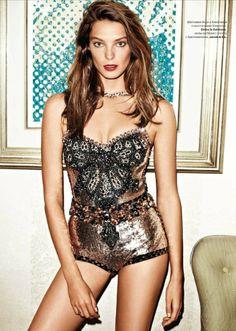Daria Werbowy in Dolce & Gabbana for Tatler Russia, March 2012