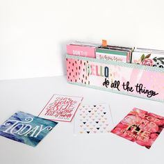 upcycled box from The Happy Planner™ Deluxe Cover using Pre-Pasted mambiSHEETS — me & my BIG ideas