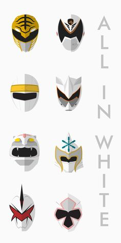 All White Rangers - Power Rangers