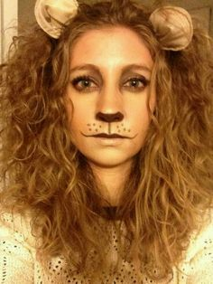 Bronzed Lioness  sc 1 st  Pinterest & Lion costume hair and ears | Halloween | Pinterest | Lions Costumes ...