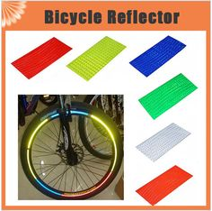 8pcs/pack Reflective Stickers Motorcycle Bicycle Reflector Bike Cycling Security Wheel Rim Decal Tape Safer velo #clothing,#shoes,#jewelry,#women,#men,#hats,#watches,#belts,#fashion,#style
