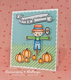 Lawnscaping Challenge: Lawnscaping Challenge: Too cute to spook sponsored by LAWN FAWN