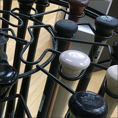 Rawlings® fields a different branded approach to Baseball Bat Merchandising. Yes, the usual 2 tiers, but a single labyrinthian open-wire spinner rack to hold bats yet allow access. Bats, Carousel, Fields, Wire, Retail, Display, Baseball, Color, Baseball Promposals