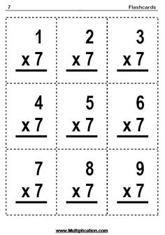Universal image for multiplication flash cards printable 0-12