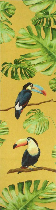 Tête-à-tête jacquard Toucan jaune                                                                                                                                                      Plus