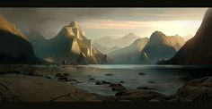 Sunset valley by *AndreeWallin on deviantART