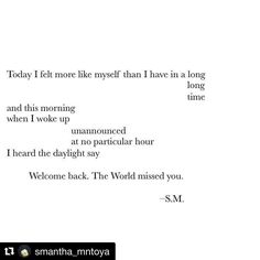 #Repost @smantha_mntoya (@get_repost)  I don't where I've been but I missed you too