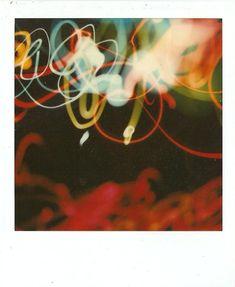 "Polaroid SX-70 Light Painting ""Twisted Xmas 4"""
