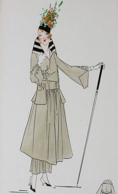 Lucile studio fashion sketch, circa 1915-20,