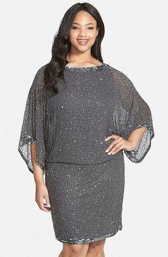 J Kara Embellished Blouson Dress (Plus Size) available at #Nordstrom