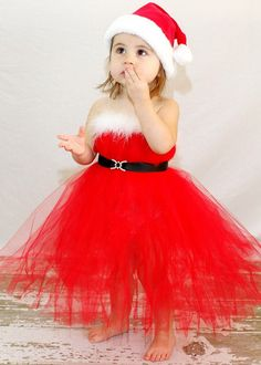2cfd3e37ed009 10 cute santa dress up for baby girl that look pretty during this holiday  season by combining the red color with other suitable color.