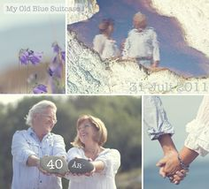 Fun ideas for anniversary pics...  I'll be making dad get in front the camera - use at ann. party