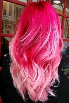 Blonde highlights: Perfect hair dyeing technique for every hairstyle ★ Blonde hair . Cute Hair Colors, Pretty Hair Color, Hair Dye Colors, Ombre Hair Color, Blonde Dye, Blonde Pink, Blonde Streaks, Blonde Balayage, Blonde Hair With Highlights