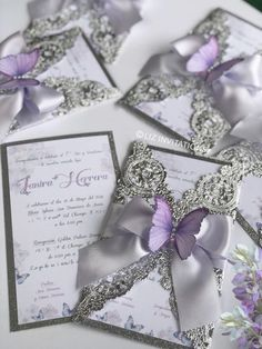 Easygoing accounted for quinceanera decorations Apply today Butterfly Wedding Theme, Butterfly Wedding Invitations, Quince Invitations, Sweet 16 Invitations, Luxury Wedding Invitations, Wedding Invitation Cards, Wedding Cards, Wedding Themes, Wedding Flowers