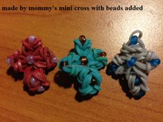 Made By Mommy's Mini Cross Tutorial - I just added beads to them ( marlene.barressii)