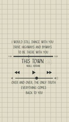 This town Niall Horan