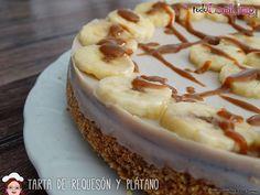 Tarta ligera requesón y plátano