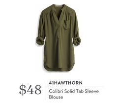 41Hawthorn Colibri Solid Tab Sleeve BlouseInterested in a personal stylist? Try stitch fix, where they look at your style interests to tailor a box just for you! Click my referral link below: stitchfix.com/referral/5006859