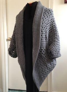 Crochet Granny Square Cocoon Sweater by HandmadebyHeikeHeart