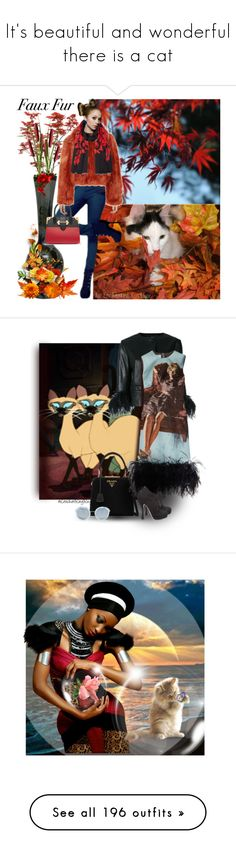 """It's beautiful and wonderful there is a cat"" by jaja8x8 ❤ liked on Polyvore featuring Prada, Maison Margiela, Kenzo, art, cutetravelingcat, Anya Hindmarch, Fabrizio Viti, Neff, Urban Trends Collection and Jil Sander"