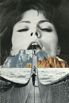 """Saatchi Online Artist Sammy Slabbinck; Collage, """"The Great Escape"""" #art"""