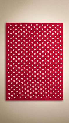 Cashmere Heart Design Baby Blanket | Burberry