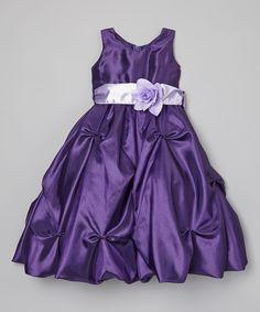 Another great find on #zulily! Purple Flower Dress - Toddler & Girls by ClassyKidzShop #zulilyfinds