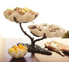 Clam Shell Serving Dishes....great for a clam bake