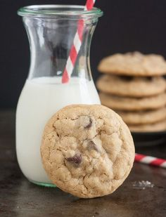 Brown Butter Oatmeal Chocolate Chip Cookies by Traceys Culinary Adventures #backtoschool