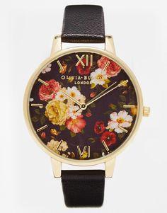 Image 1 ofOlivia Burton Winter Garden Floral Oversize Dial Watch