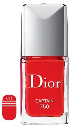 Nail polish + Dior nail stickers. How fun!