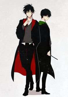 The Black Brothers》Sirius Black of Gryffindor and Regulus Black of Slytherin Fanart Harry Potter, Mundo Harry Potter, Harry Potter Artwork, Harry Potter Ships, Harry Potter Drawings, Harry Potter Universal, Harry Potter Movies, Harry Potter Fandom, Harry Potter World