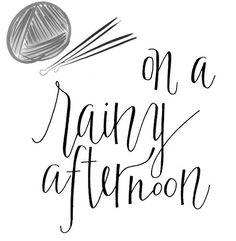 On a raining day #knitting