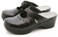 Dansko SUSANA 37 womens dress shoes Size 6.5 7 leather clogs mules slip on clog #Dansko #Clogs @ebay