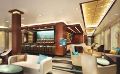 The Haven Lounge, Norwegian #Escape. #Luxury #Travel
