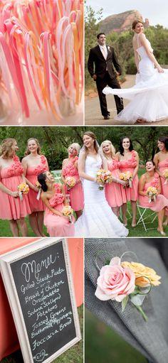 Pink & orange weddin