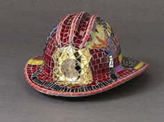 Hero by Patty Franklin Mosaic sculpture ~ 7 x 12