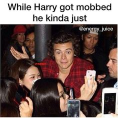 Haha  I feel bad for him though, getting mobbed can't be a pleasant experience