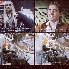 « #thranduil #thehobbit #leepace » awwww stop being so beautiful and adorable.