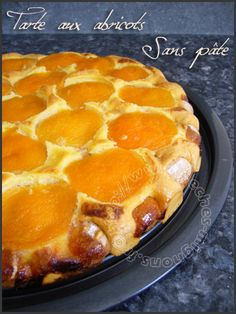 Apricot tart without dough – Sins Mignon – Kuchen Apricot Tart, Cookie Recipes, Dessert Recipes, Sweet Pie, Low Carb Recipes, Love Food, Cravings, Food And Drink, Yummy Food