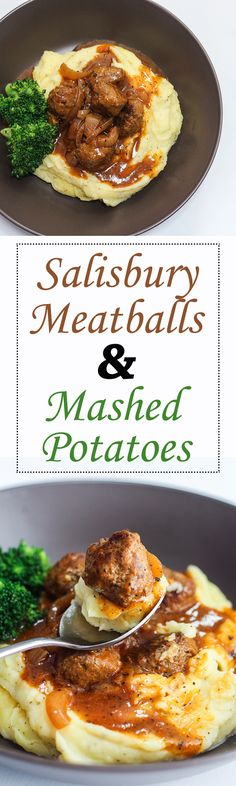 The creaminess of the mash, the bite from the meatballs, the smooth and peppery gravy plus the crunchy broccoli. Too delicious!
