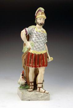 Figure of Mars -  Pre-Victorian Staffordshire