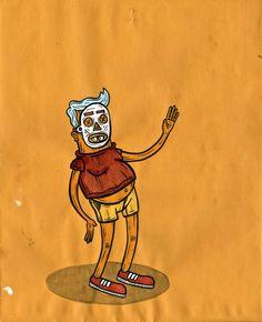 #art #artist #illustration #ink #luke_pelletier #painting #skate #skate_art #street_art #eyeli